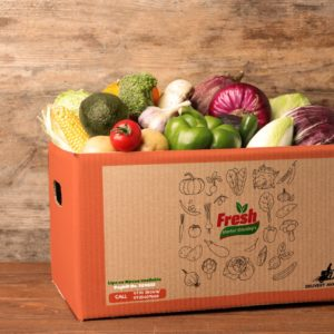 Home delivery of fresh vegetables